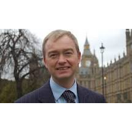 Tim Farron MP in front of Westminster
