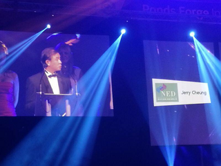 Jerry Cheung at Sheffield Business Awards