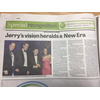 Press clipping on Jerry Cheung Sheffield Biz Awards