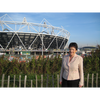 Sarah Ludford MEP at Olympic site