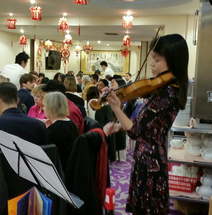 Julia Liang, violinist CNY dinner 2016