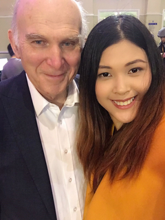 Sir Vince Cable MP with Ruby Chow