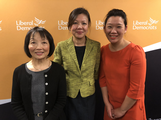 Chinese LibDem Candidates for May local elections (L-R) Linda Chung, Merlene Emerson, Sarah Cheung Johnson