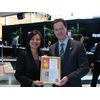 Merlene Emerson with DPB Nick Clegg MP at London Spring Conference 2011