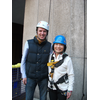 Cllr Linda Chung abseiling for Mayor's charities in Camden May 2013