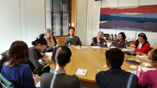 Baroness Sal Brinton with delegation of Chinese disabled activists