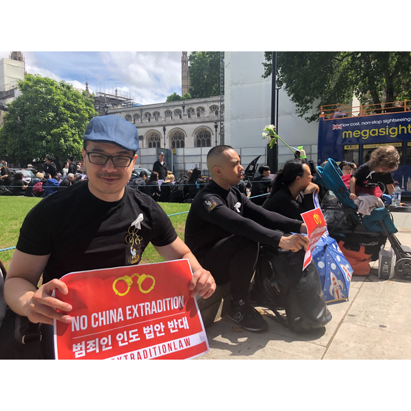 Larry Ngan at HK Extradition Protest 2019
